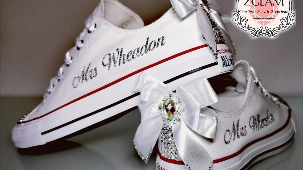 Wedding Low Top Converse Bridal Shoes