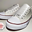 Thumbnail: Personalised Wedding Glitter Converse Style Trainers