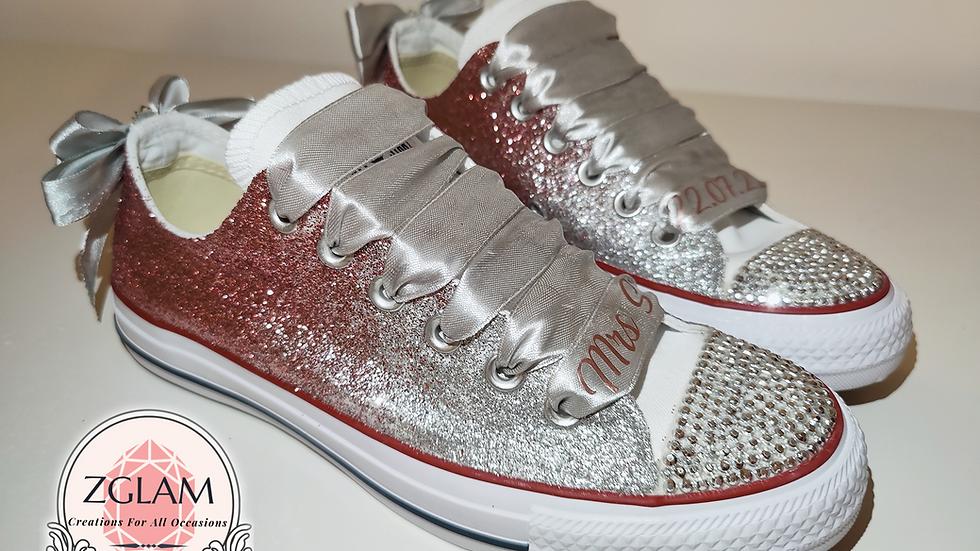 Personalised Wedding Glitter Converse