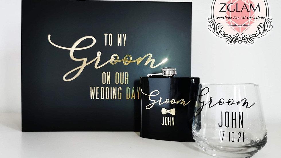 Personalised Groom Gift Set