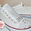 Thumbnail: Glittery Wedding Converse Style Trainers