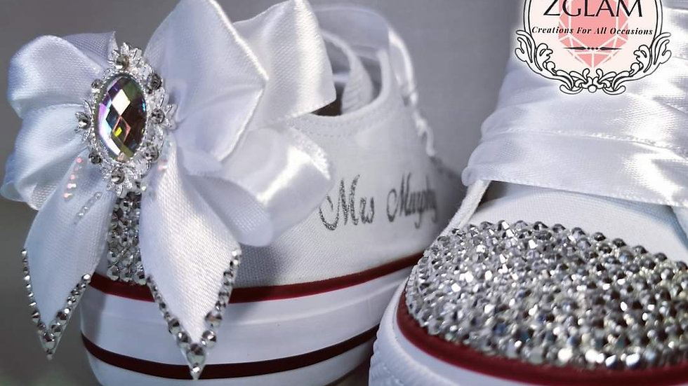 Wedding Low Top Converse Style Pumps