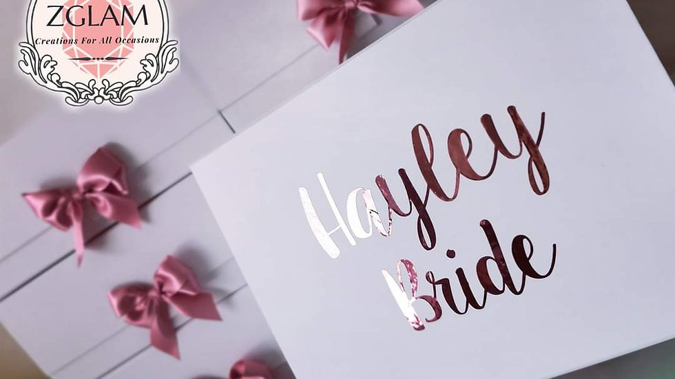 Personalised Gift Boxes with bows