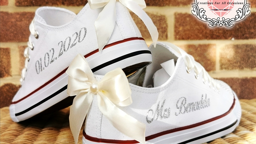 Personalised Wedding Converse Style Pumps