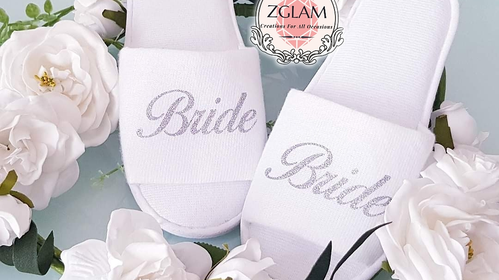 Personalised Wedding Party Slippers