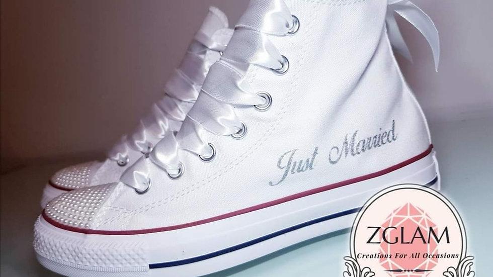 Wedding  High Top Converse