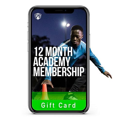 12 Months Academy gift card