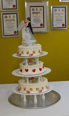 wedding ice cream cake