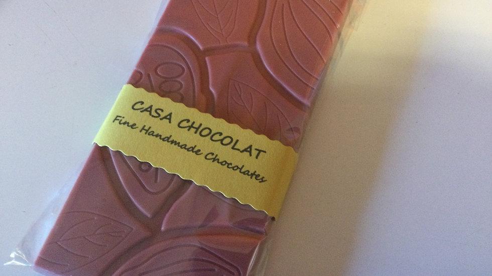 Ruby chocolate slab 100g