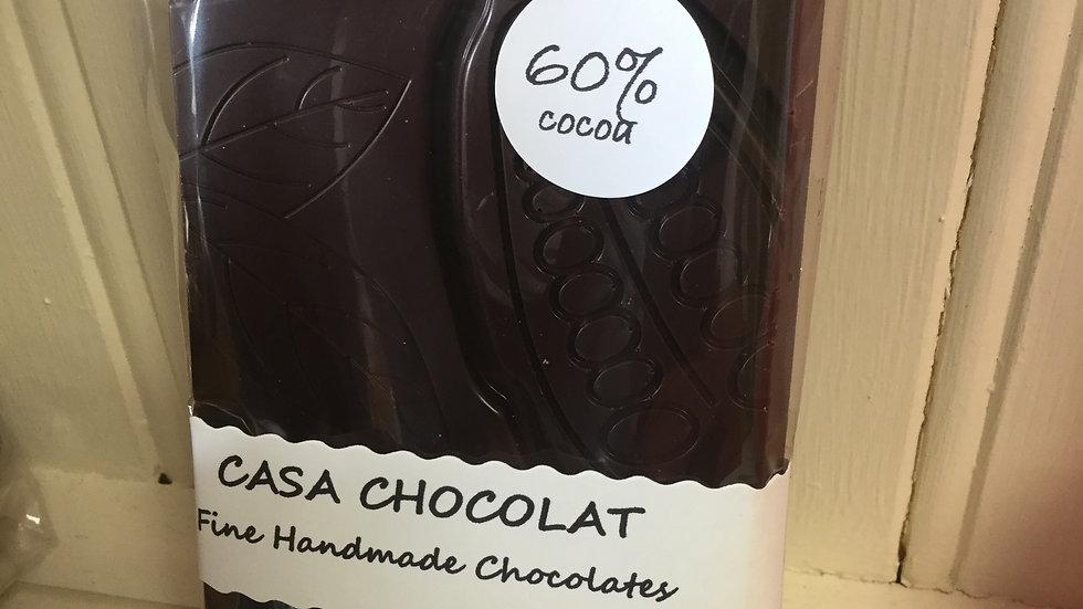 Dark chocolate slab 60% 100g