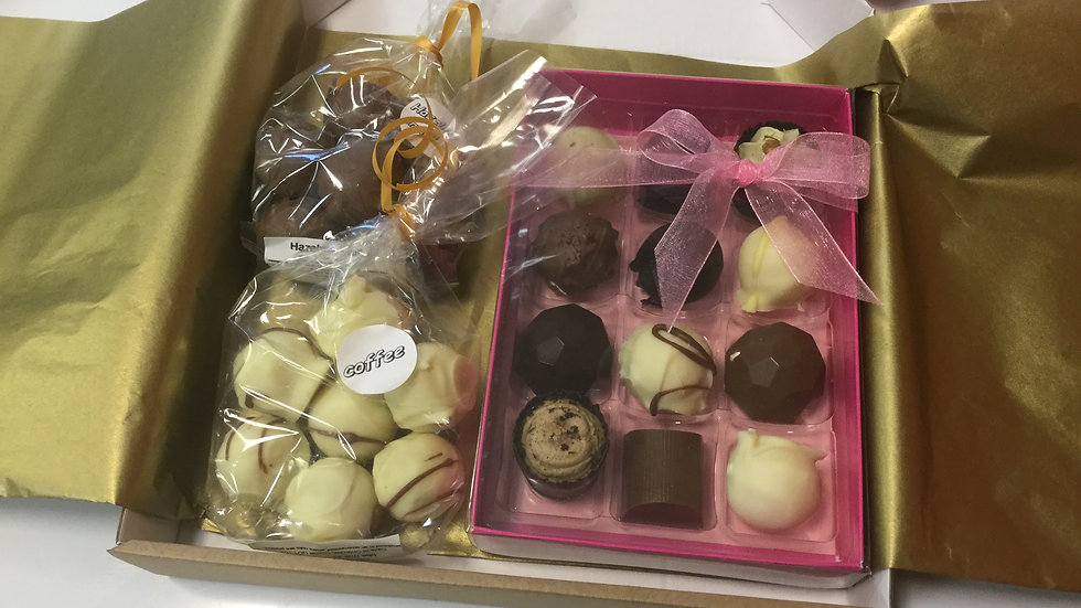 Postal chocolate box