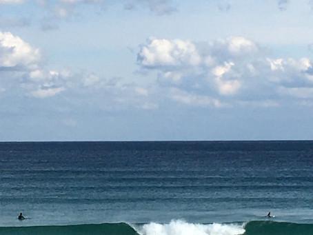 初サーフィン