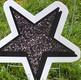Black Glitter Star