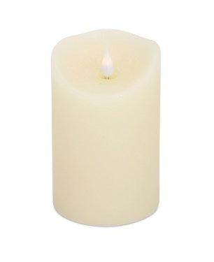 "64135 - 5.5"" Ivory Textured Pillar Candle"