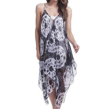 84586H - Sheer Over-Dress - Black Tie Dye
