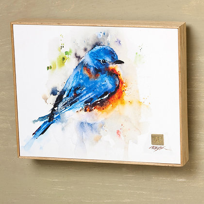B5050135 - Springtime Bluebird Watercolor Print