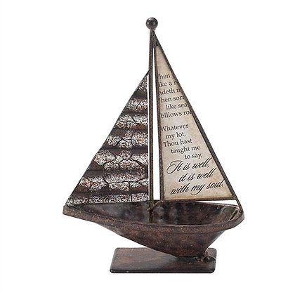 "SBTTM-201 - 6.5"" Sailboat ""It Is Well w/ My Soul"""