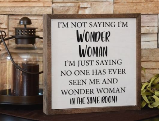 CW007 - Wonder Woman Sign