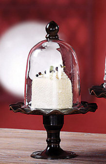 HD6455 - Ruffle-Edged Pastry Stand w/ Glass Dome