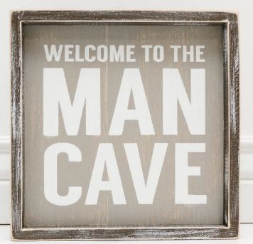 19142- Welcome To The Man Cave Word Plock