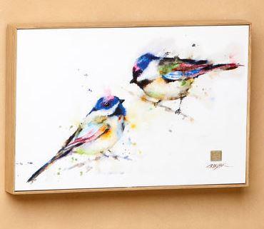 B5050133 - Chickadee Pair Watercolor Print