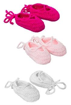 7SCK087 - Baby Ballerina Booties (Various Colors)