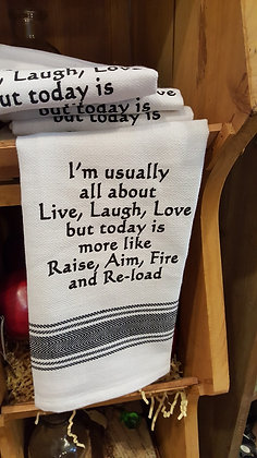 Kitchen Towel - I'm Usually All About Live...