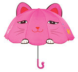 Lucky Fushia Cat - Children's Umbrella