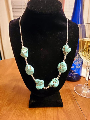 Large Turquoise Stone Necklace