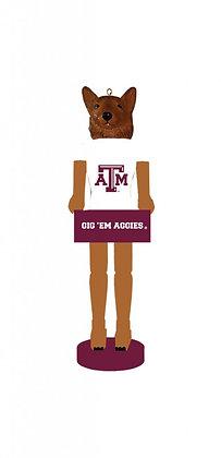 "TXA045 - 6"" Texas A&M Nutcracker Ornament"