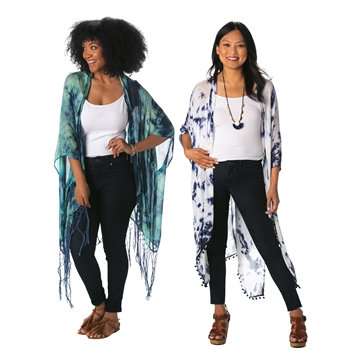 7CWC380 - Teal & Blue/ Blue & White Duster