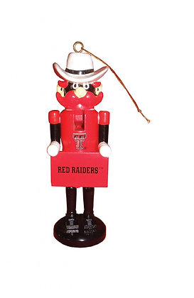 "TXR045 - 6"" Texas Tech Nutcracker Ornament"