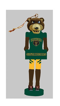"BAB045 - 6"" Baylor Bear Nutcracker Ornament"
