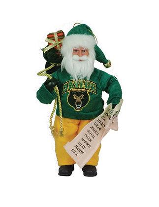"BAB090 - 9"" Baylor Santa w/ Bag & List"