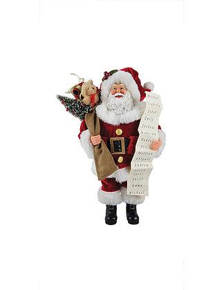 "5603 - 12"" Santa w/ Bag of Toys & List"