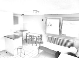 Dessin d'un studio de la Résidence Habitat Jeunes (FJT) de saint-dié des vosges