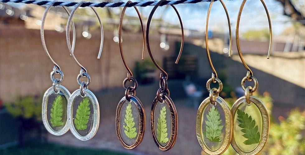 Emerald Fern Earrings