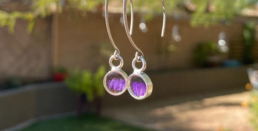 Lavender Crown Earrings
