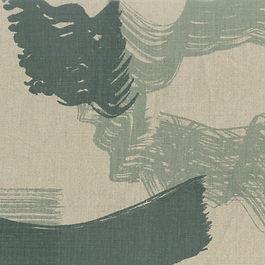 Hanprinted fabrics for interiors available by-the-yard.