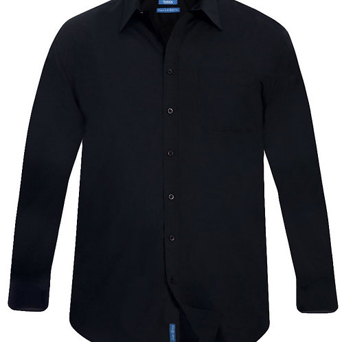 Corbin Long Sleeve Classic Black Shirt