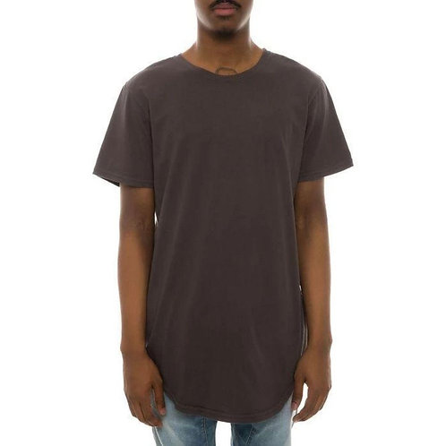 BRLY Scallop Bottom T-Shirt - Charcoal
