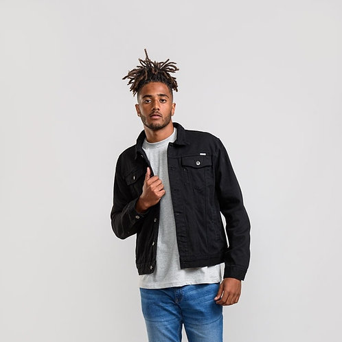 Trucker Black Denim Jacket