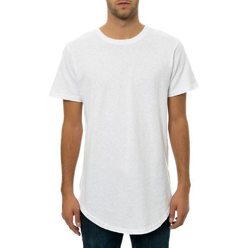 BRLY Scallop Bottom Tee - White