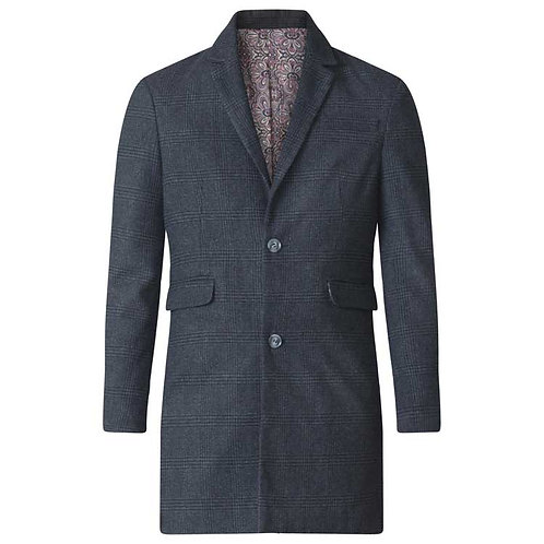 Terry Checked Evening Overcoat