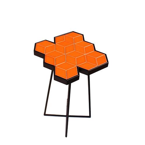 Orange Hexa Side Table