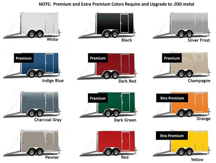 Diamond Cargo Exterior Metal Color Chart