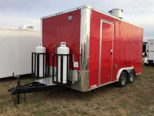 Red Concession Trailer