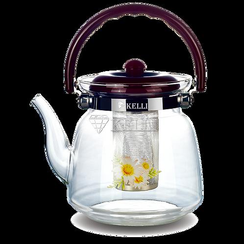 Заварочный чайник Kelli KL-3001 стекло 1.2л