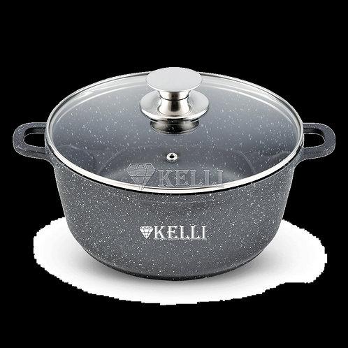 Кастрюля Kelli KL-4000-16 мраморное покрытие 1,6л 3,5л  5,5л 8л