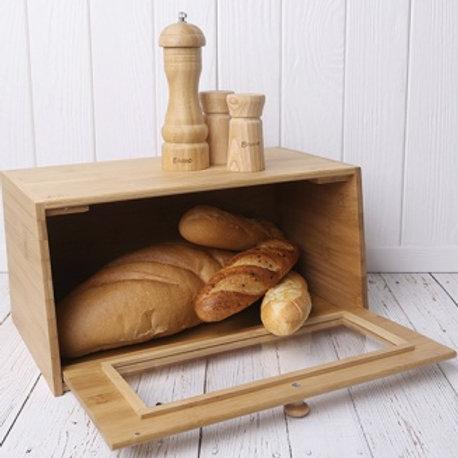 Хлебница 182 BRAVO 38,5*22*19см бамбук с прозрач дверцей